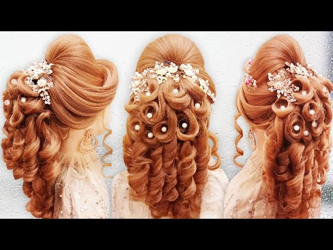 curly-hairstyle-l-kashees-hairstyle-l-hair-style-girl-for-wedding-hairdos-l-bridal-hairstyle