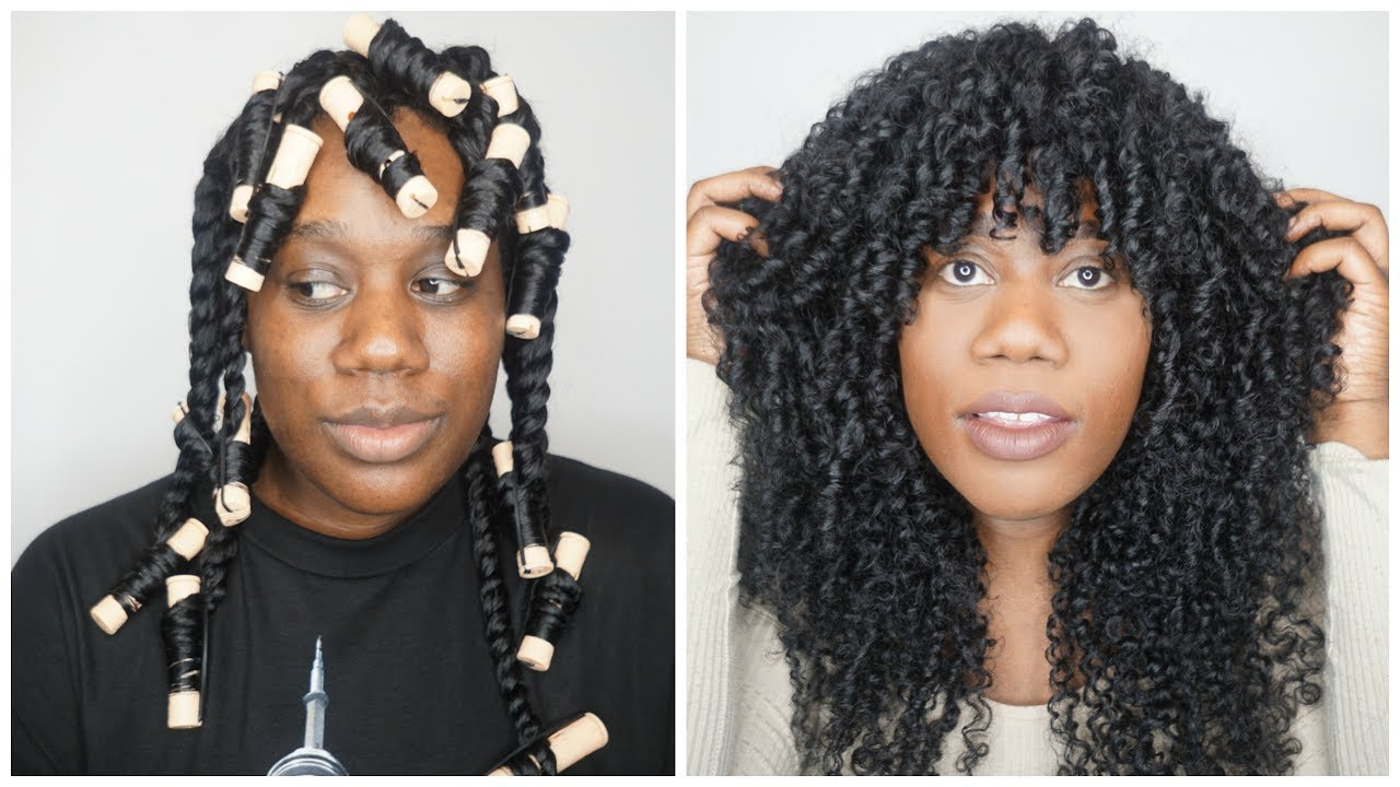 Issa Perfect Twist Out On Curly Weave Youtube
