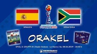 SPANIEN - SÜDAFRIKA 3:1   08.06.2019   FIFA Womens World Cup France 2019 - Panini Sticker Orakel