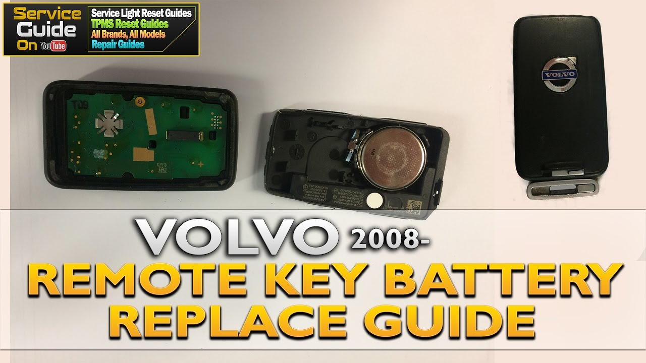 Volvo Remote Key Battery Replace Fob 2008 Youtube