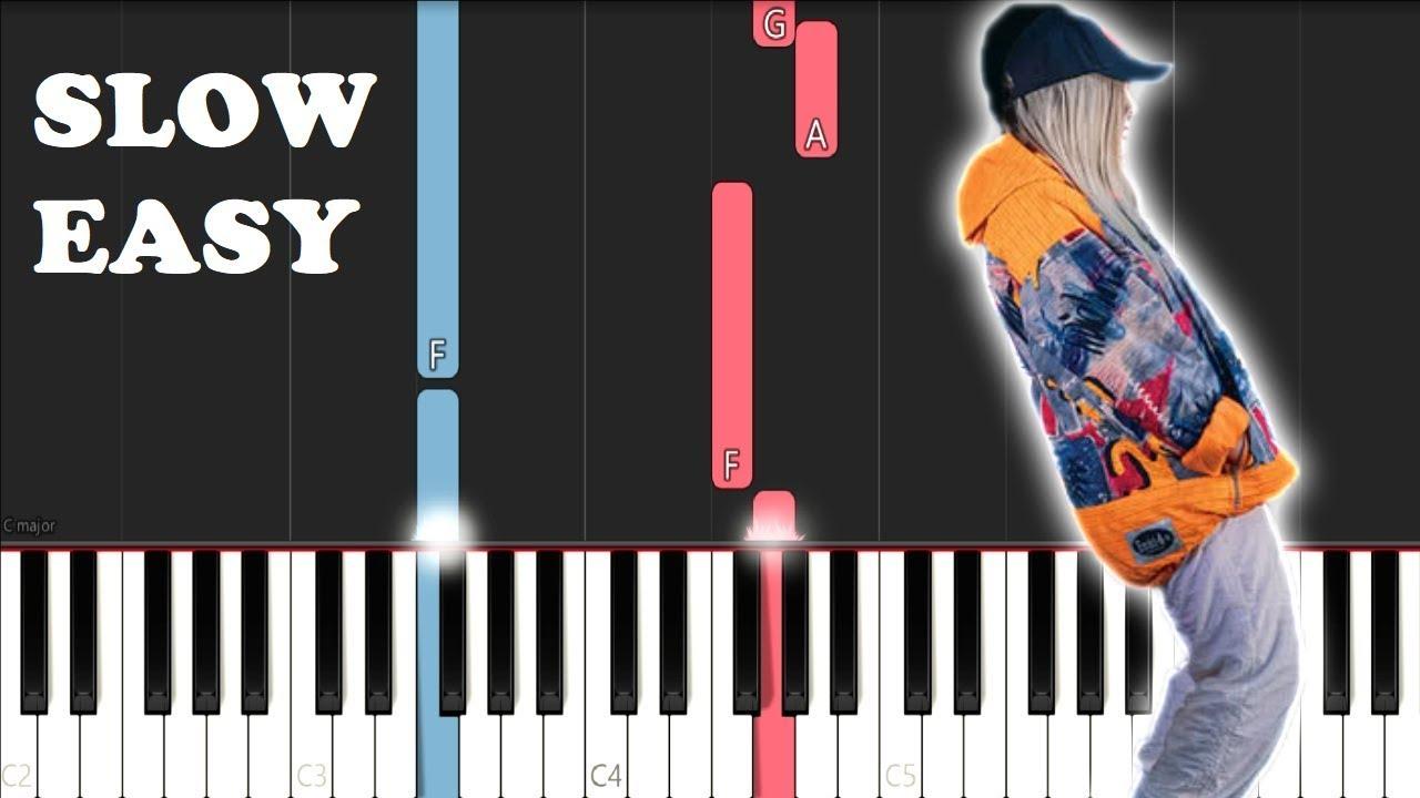 Tones And I Dance Monkey Slow Easy Piano Tutorial Youtube