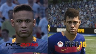 PES 16 vs FIFA 16 Faces | PC Max Settings | Full HD
