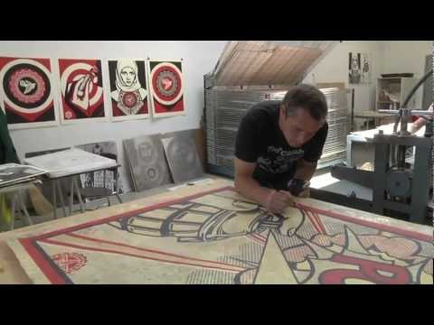 "Shepard Fairey: Printing ""Harmony & Discord"" at Pace Prints"