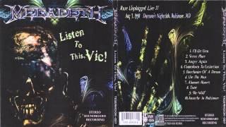 Megadeth - Listen To This, Vic! (Baltimore 1998) [Full Bootleg Album]