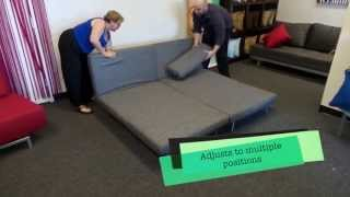 The Futon Shop Apollo Modern Sofabed Sleeper Couch King Size Bed