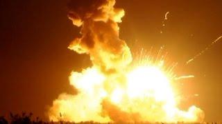 Antares Explosion - NASA Rocket Launch Explodes : Video