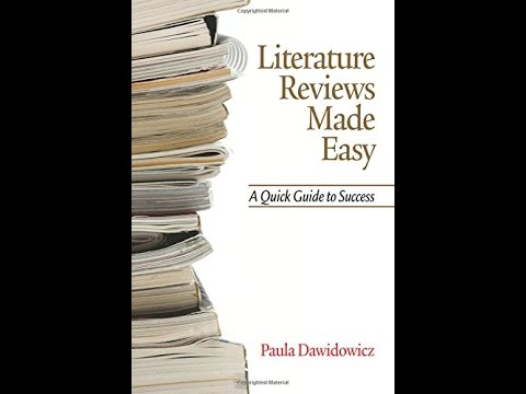 literature reviews made easy paula dawidowicz Literature reviews made easy by paula dawidowicz, 9781617351921, available at book depository with free delivery worldwide.