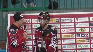 Boden Hockey intervju första perioden