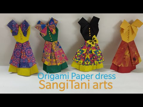 #Origami paper dress | how to make cute easy paper dress | #diy ~ tutorial