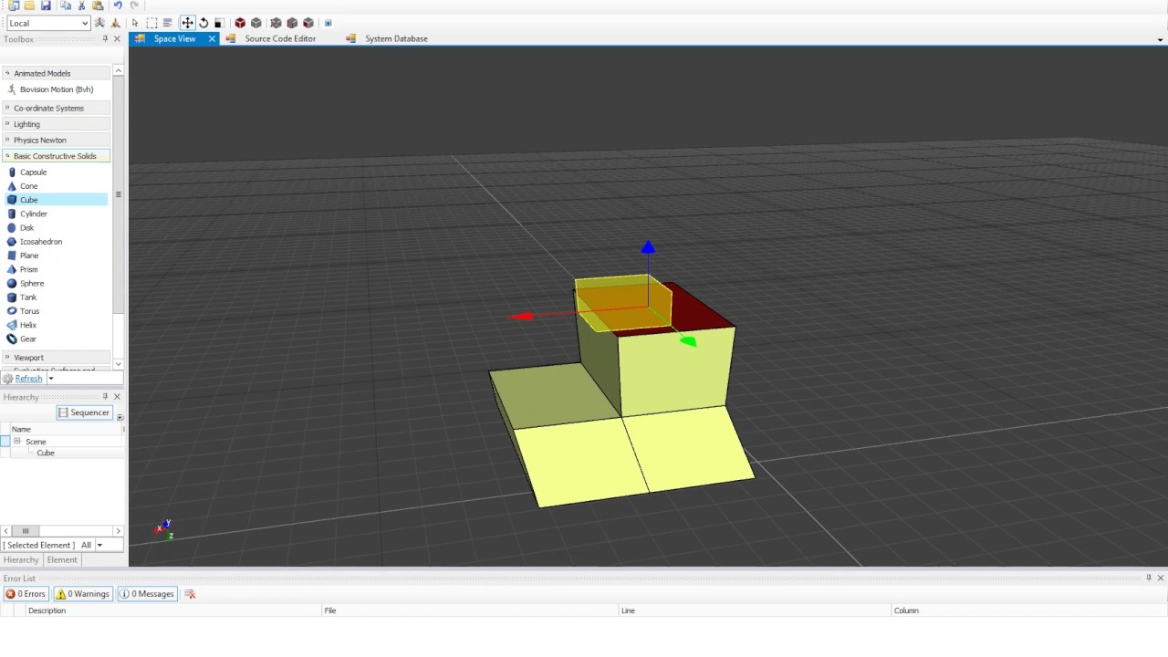 nthDimension 3D Constructive Solid Geometry (3D CSG)