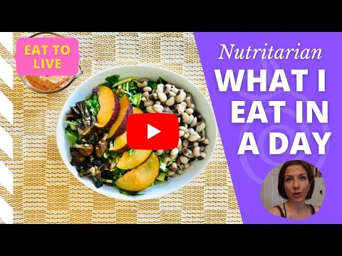 What I Eat in a Day (to Lose Weight) // Eat to Live // Nutritarian