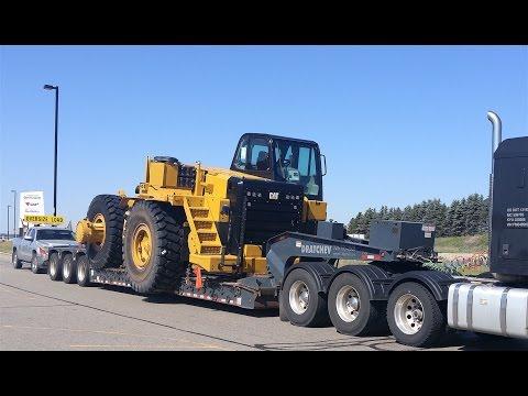 "Heavy Haul TV: Caterpillar 775G -- 13'6"" Wide - HOW ESCORTS WORK!"