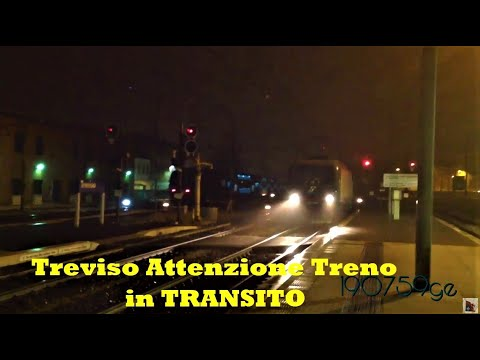 Treviso  Attention train in transit get away from the Yellow line