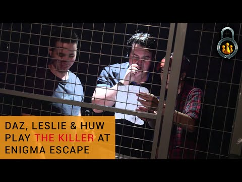 Daz, Leslie & Huw play The Killer - Immersive Escape Game - Enigma Escape