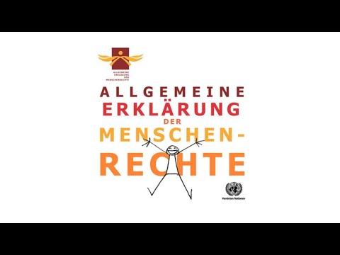 Allgemeine Erklärung der Menschenrechte (UDHR read in German)