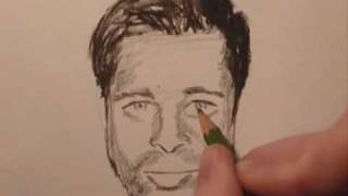 How To Draw... in less than 10 minutes: Brad Pitt