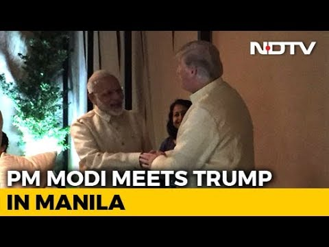 PM Modi, Donald Trump Shake Hands At ASEAN Dinner, Meeting Tomorrow