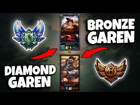 DIAMOND GAREN VS BRONZE GAREN (1v1)! IS THERE A DIFFERENCE? - League of Legends