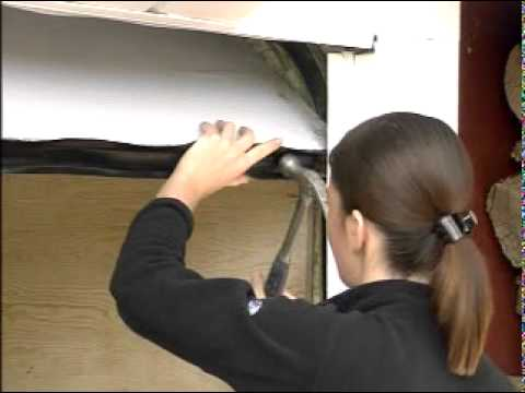 How To Install Weatherstripping Garage Door Bottom Youtube
