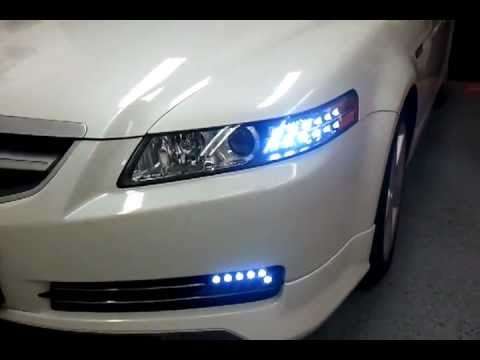 IntoTheCarCustomized Acura TL DRLSignal YouTube - Acura tl aftermarket headlights