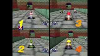 Mario Kart 64: 4-CPU, All Cup
