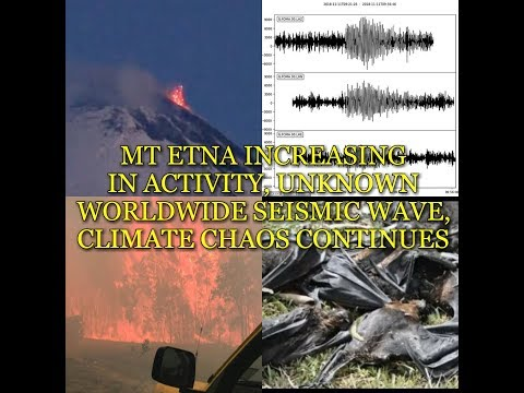 MT ETNA INCREASING IN ACTIVITY, UNKNOWN WORLDWIDE SEISMIC WAVE, CLIMATE CHAOS CONTINUES