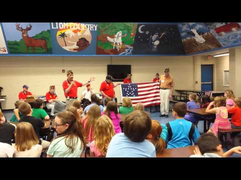 Jessieville Elementary School Flag Education 2015