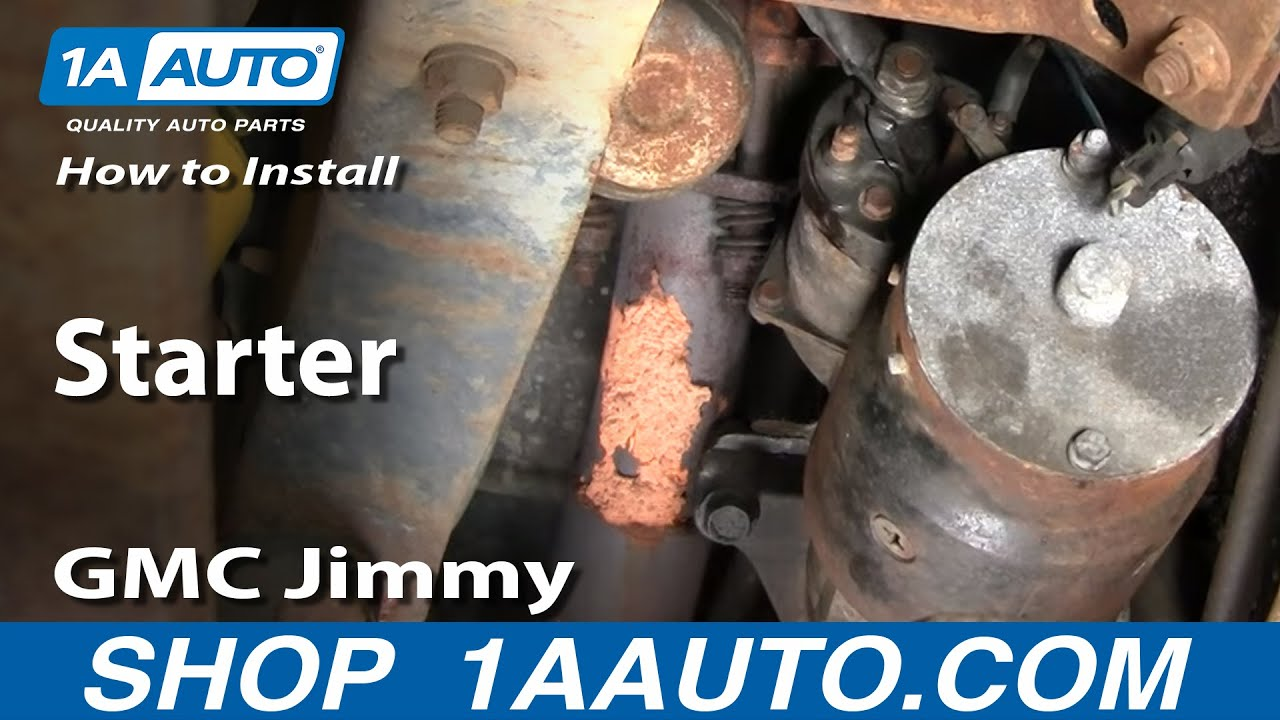 how to install replace starter chevy gmc 305 350 pickup truck suv rh youtube com