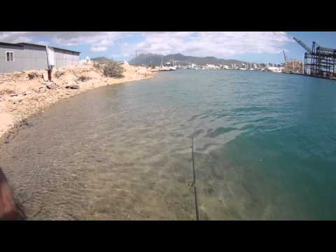 """""""TRYING"""" TO FISH OFF SAND ISLE - DOWNTOWN, HONOLULU!"""