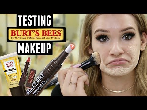 TESTING BURT'S BEES MAKEUP! Is it Any Good?!   WORTH IT or TOSS IT