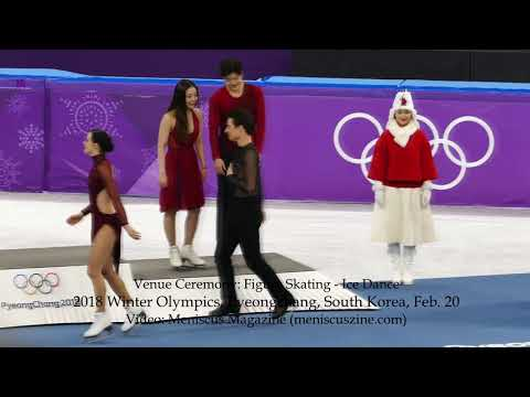 Ice Dance Figure Skating Venue Ceremony - 2018 Winter Olympics - Meniscus Magazine