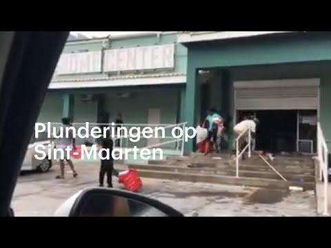 Plunderingen op Sint-Maarten na orkaan Irma - RTL NIEUWS