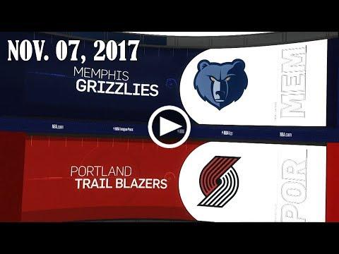 2017.11.07 NBA DAILY RECAP : MEM @ POR
