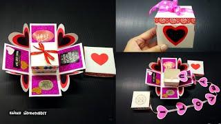 DIY สอนพับกล่องของขวัญวาเลนไทน์/วันเกิด แบบน่ารักๆเก๋ไก๋/Explosion box / แม่เนย น้องพอสDIY