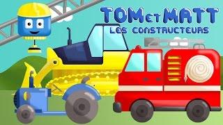 Fire truck, Bulldozer, Plane, Garbage Trucks and Tractor - Tom & Matt the Construction Trucks