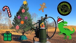 Flamethrower vs Christmas Tree