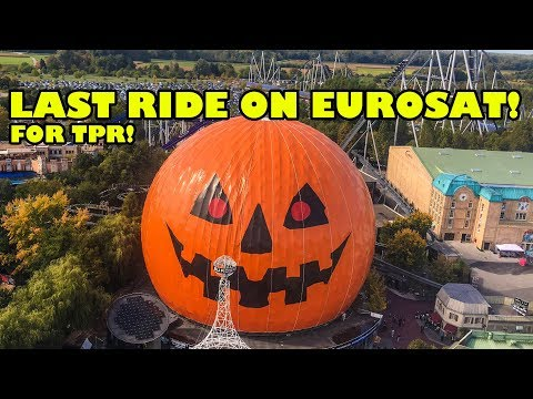 Last Ride Ever on Eurosat Roller Coaster at Europa Park in Germany for TPR! Lights On POV!