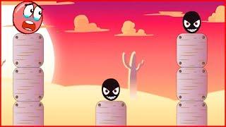 Черный злодей в Red Ball 4. Новая игра про Красный шарик.развивающая для детей