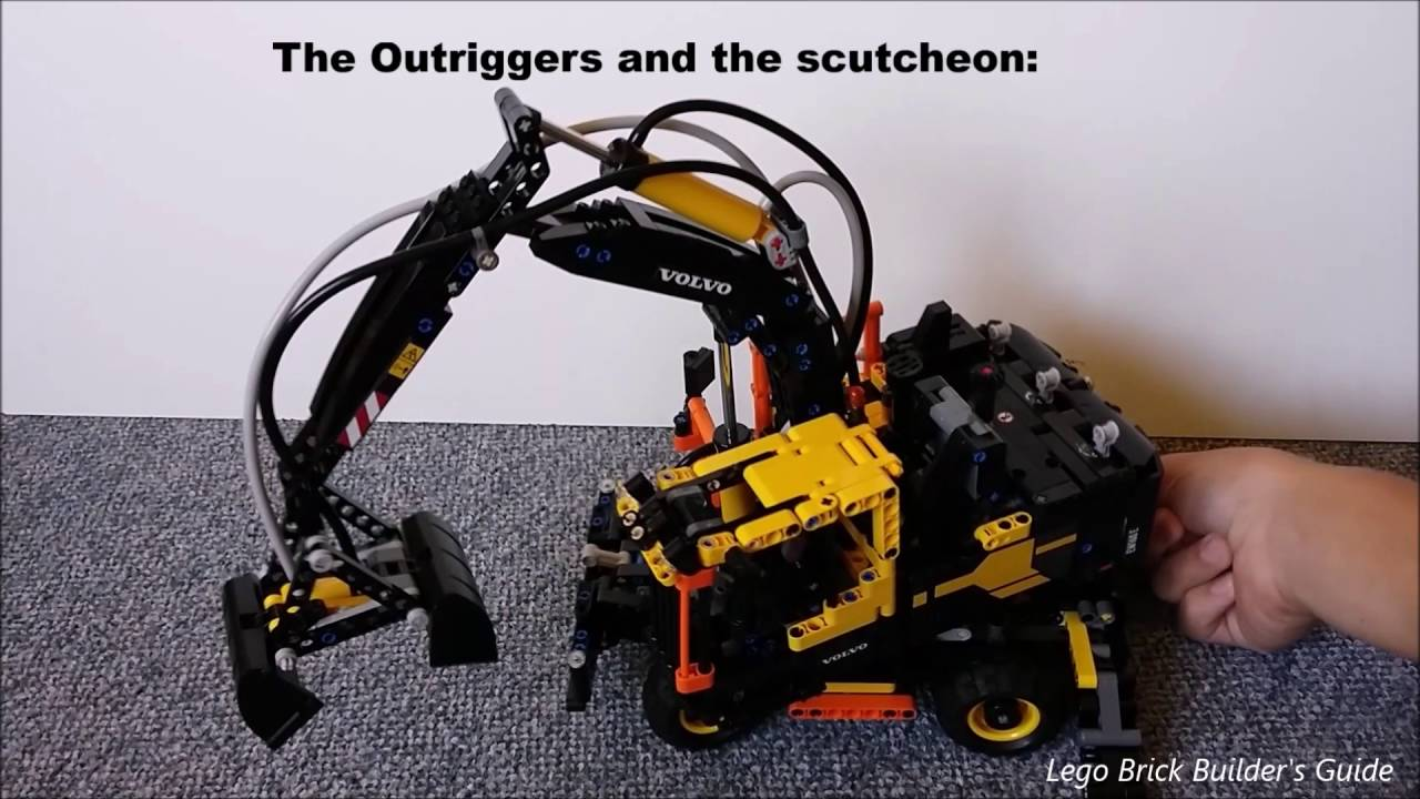 lego technic 42053 volvo ew160e review youtube. Black Bedroom Furniture Sets. Home Design Ideas