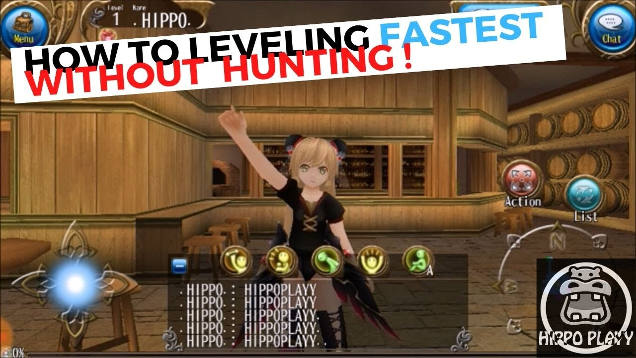 HIPPOPLAYY] - HOW TO LEVELING FASTEST WITHOUT HUNTING ! ( BAHASA ...