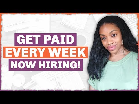 5 Work At Home Jobs That Pay Weekly. Up To $1000. Now Hiring.