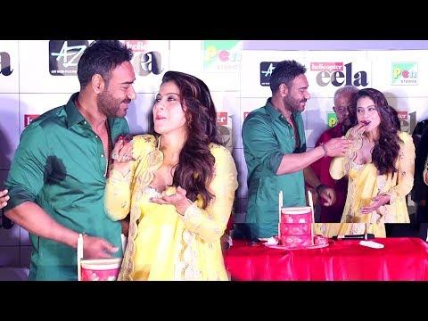 Kajol's BIRTHDAY Celebration With Husband Ajay Devgan At Helicopter Eela Trailer Launch