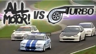 [ENG CC] N/A vs. Turbo - the ultimate Civic EK battle Tsukuba HV34