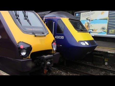 Trains at Cheltenham Spa, GWML - 7/1/17