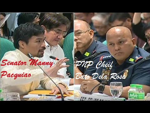 Pacquiao To Bato Talks About Rehab of Drug Addicts PDEA Chief We Are In Cleansing Process