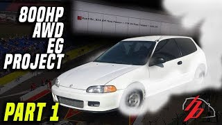 AWD B18 Turbo Hatch Sleeper Project Gets On The Dyno! 700+WHP