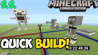 Minecraft Xbox & PS3: Quick Build Challenge! | Robots #3 [Sub Sunday]