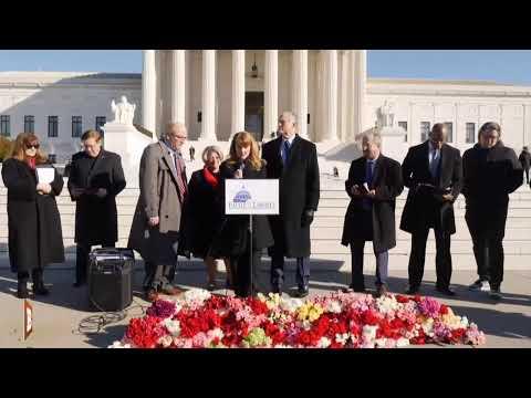 Major  Pro-Lifer Gathering on Steps of Supreme Court...
