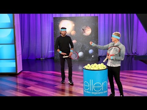 Bradley Cooper and Ellen Play 'Tossed in Space'