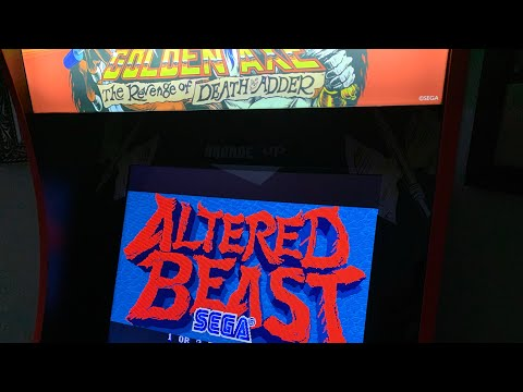 ALTERED BEAST - CHASING THAT HIGH SCORE!  Arcade1up from The 3rd Floor Arcade with Jason